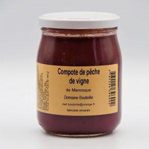 compote de pêche de vigne - Au fil des saveurs Producteur à Manosque