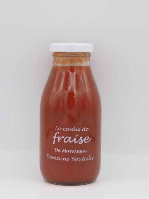 Coulis de fraise -Au fil des saveurs producteurs fruits légumes Manosque